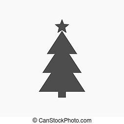 arbre, forme, étoile, noël, icône