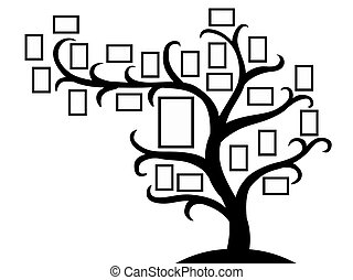 arbre, image famille, photos, here., gabarit, frames., ton, insertion