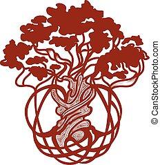 arbre, mondiale, celtique