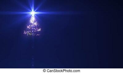 arbre noël, étoile, sommet