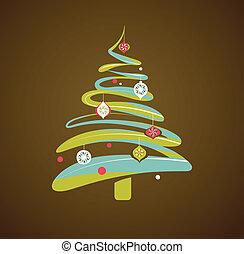 arbre, noël, fond, noël