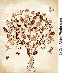 arbre, papyrus