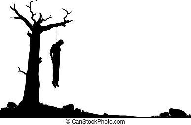 arbre, pendre