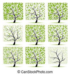 arbre, ton, art, collection, conception