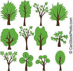 arbre, vecteur, art, agrafe