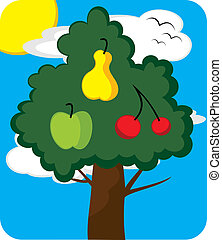 arbre, verger