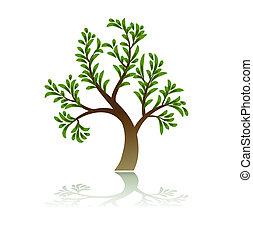 arbre vert, icône