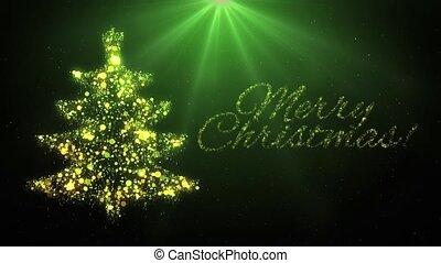 arbre, vert, joyeux noël, animation