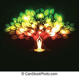 arbre, yoga