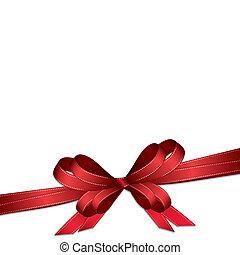 arc, arrière-plan rouge, ruban