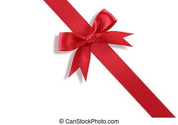 arc, diagonal, cadeau, rouges