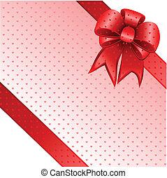 arc don, note, vecteur, carte rouge