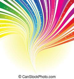 arc-en-ciel, étoiles, couleur, résumé, raie, fond