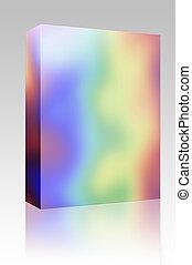 arc-en-ciel, boîte, couleurs, paquet