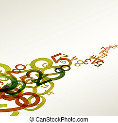 arc-en-ciel, coloré, résumé, retro, fond, nombres