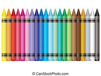 arc-en-ciel, crayon