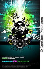 arc-en-ciel, dj, coloré, disco, couleurs, aviateur