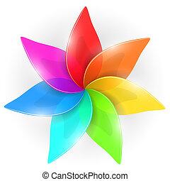 arc-en-ciel, fleur, coloré, coloré, résumé, pétales, bourgeon