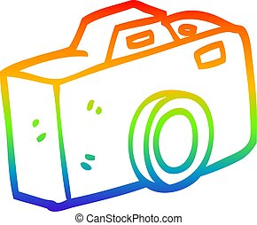 arc-en-ciel, gradient, dessin, appareil photo, ligne, dessin animé