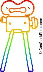 arc-en-ciel, gradient, dessin, appareil photo, ligne, dessin animé, pellicule
