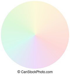 arc-en-ciel, gradient, sourd, couleurs, vecteur, circulaire