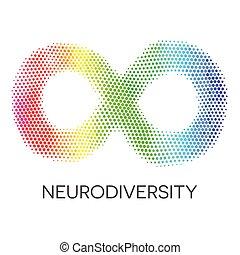 arc-en-ciel, loop., infinité, neurodiversity, symbole.