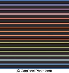 arc-en-ciel, pattern., seamless, vecteur, ligne horizontale