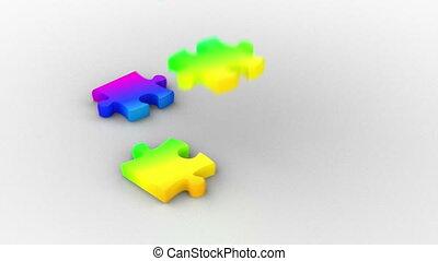 arc-en-ciel, puzzle, solution