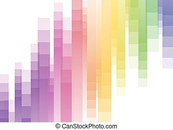 arc-en-ciel, résumé, bas, dessus, fond, vitesse, pixel