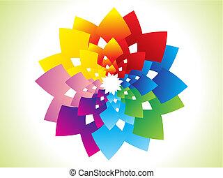 arc-en-ciel, résumé, fleur, coloré