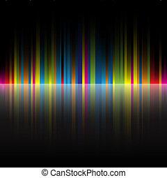 arc-en-ciel, résumé, noir, couleurs, fond