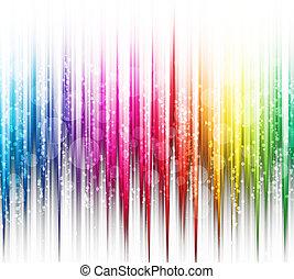 arc-en-ciel, résumé, spectre, couleurs, fond, blanc