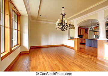 arch., salle, grand, dîner, luxe, intérieur, cuisine