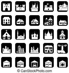 architectural, icônes