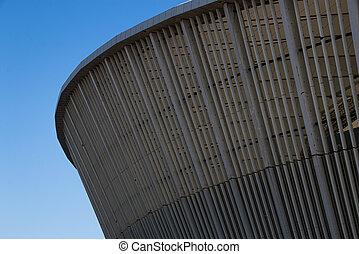 architecture, fin, mabhida, stade, moïse, construction
