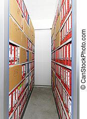 archive, bureau