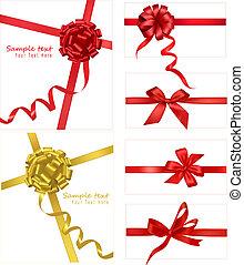 arcs, rubans, rouges, collection