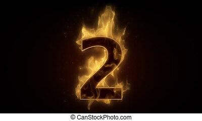 ardent, boucle, nombre, brûlé, deux, wi