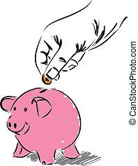 argent, économie, illustration