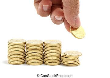 argent, économie, piles