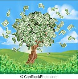argent, concept, arbre