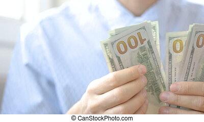 argent, corruption, dénombrement, concept, homme