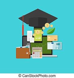 argent, gestion financière, cout, education