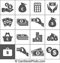 argent, icône