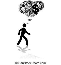 argent, pensées