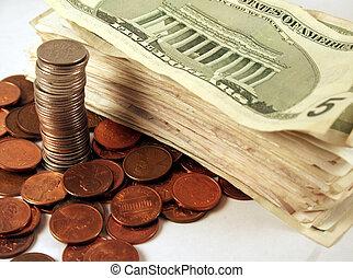 argent, piles