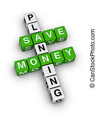 argent, planification, sauver