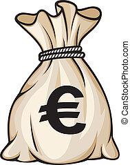 argent, signe, sac, euro