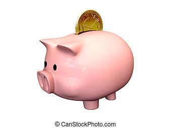 argent, temps, économie, banque, pigg