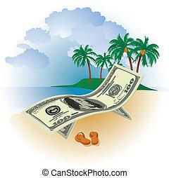argent, vacances